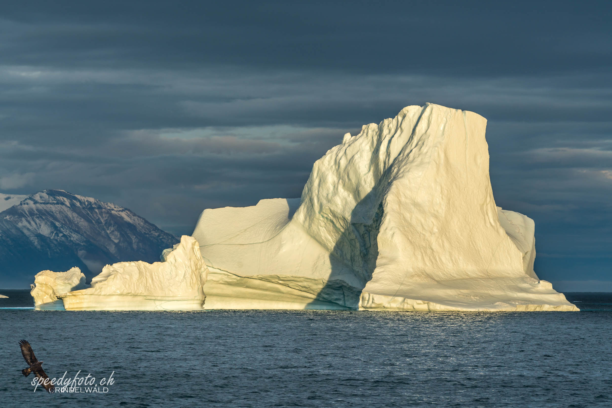 Iceberg in the evening sun