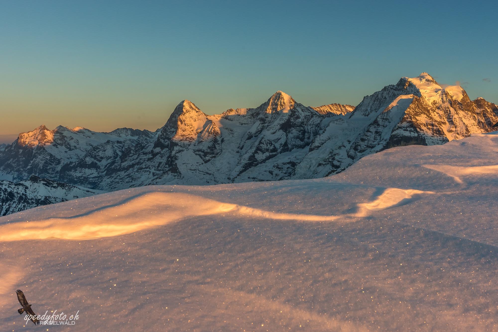 letztes Licht - View from Schilthorn