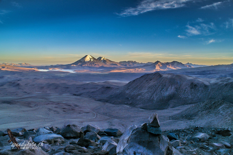 Im Aufstieg Guallatiri (6074 m)