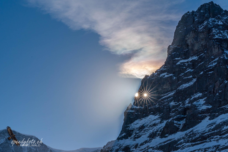 Doppelsonne am Eigerloch (Martinsloch)