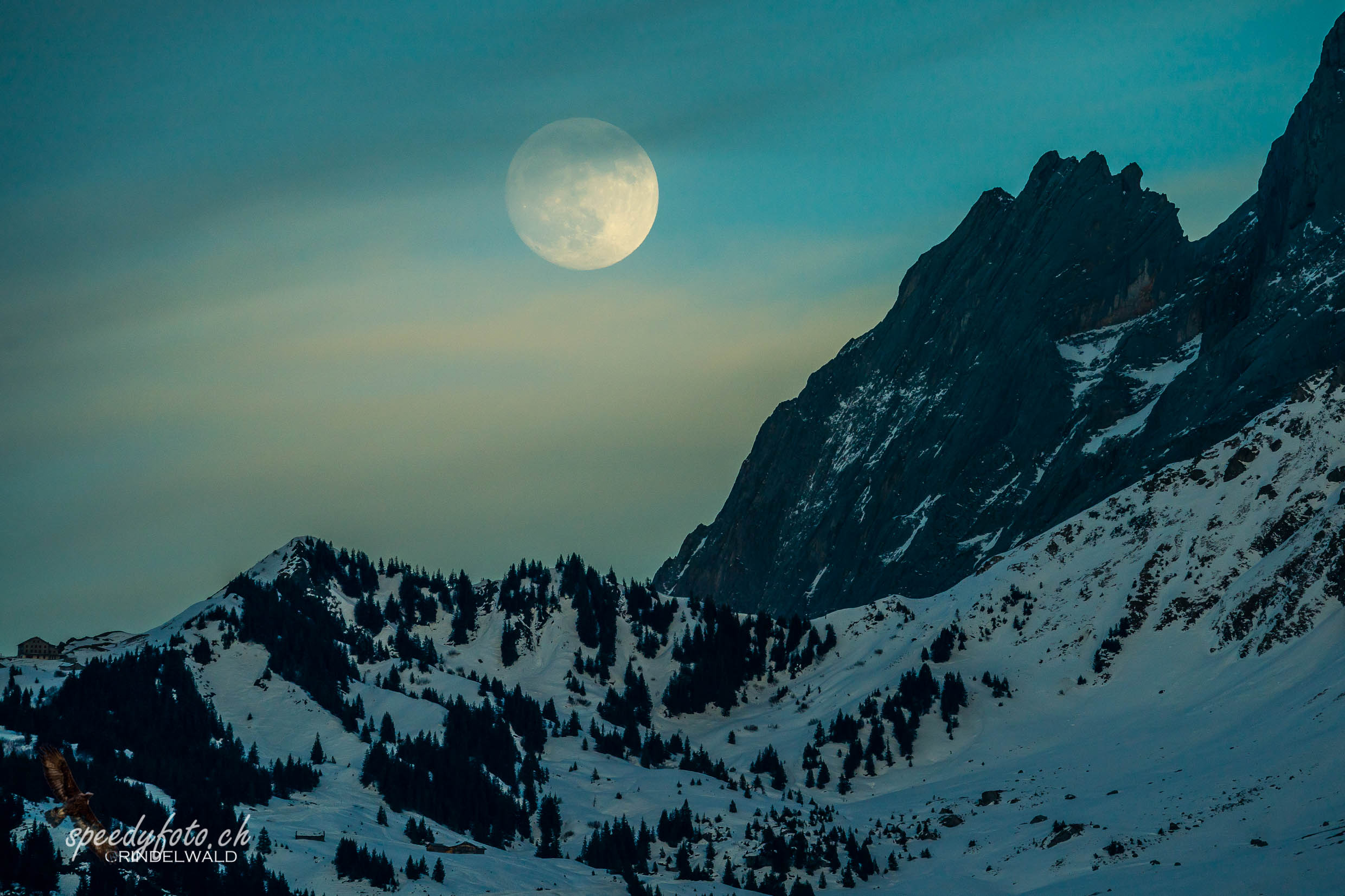 Mysty Moonrise - Gr. Scheidegg