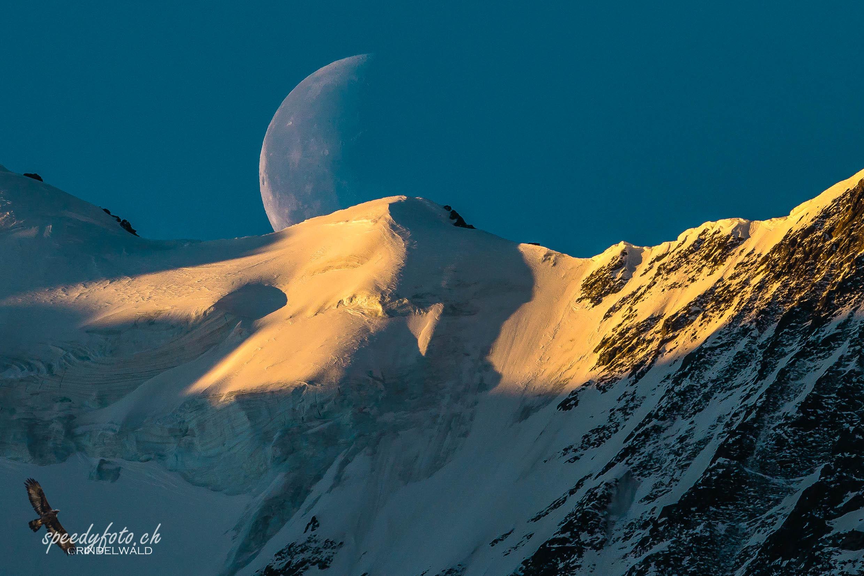 Mondaufgang über der Gletscherkante