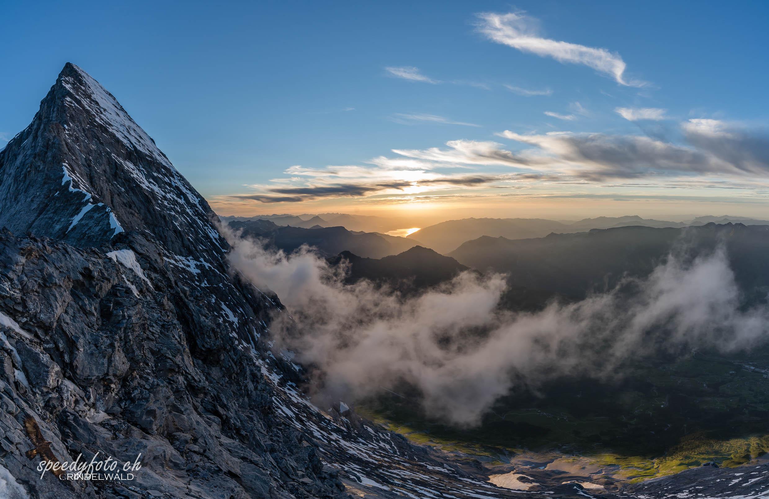 Abends am windigen Grat - Mittellegi 3355 m