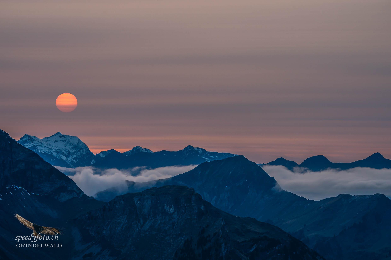 Sunset - Tagesende - Grindelwald Nature