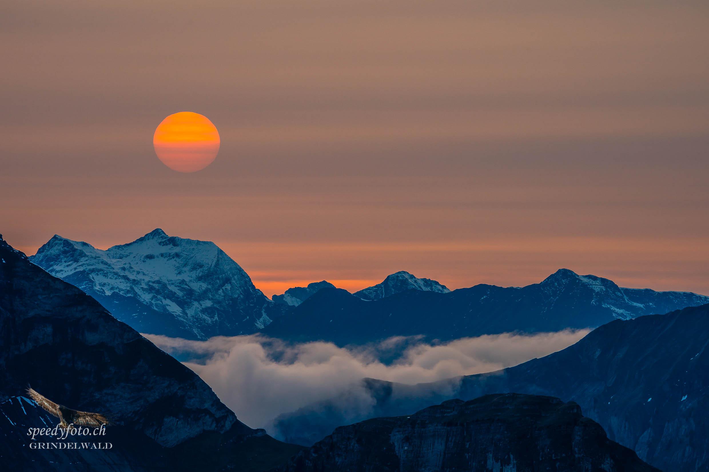Sunset - das letzte Bild des Tages - Grindelwald