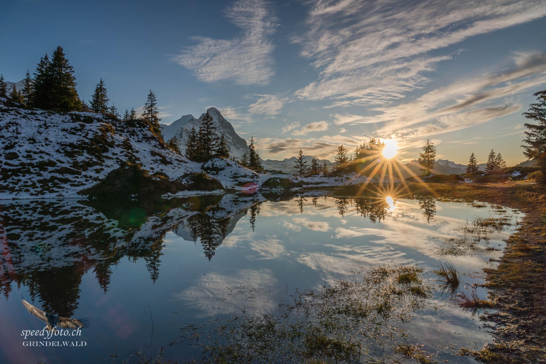 November Sonnenuntergang - Grindelwald