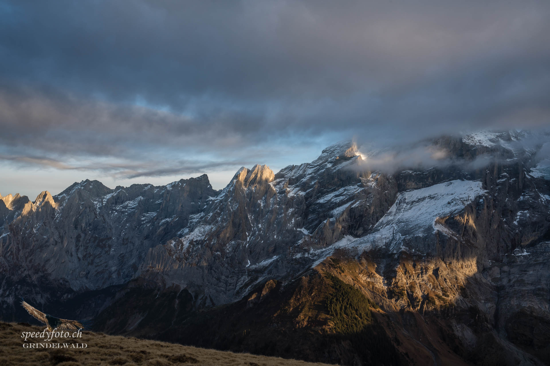Abendstimmung Engelhörner - Grindelwald